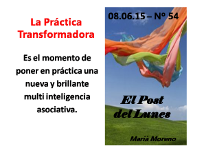 54. Post 08.06.15 - La práctica transformadora