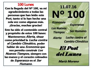 100. Post del Lunes - 11.07.16 - 100 Lunes